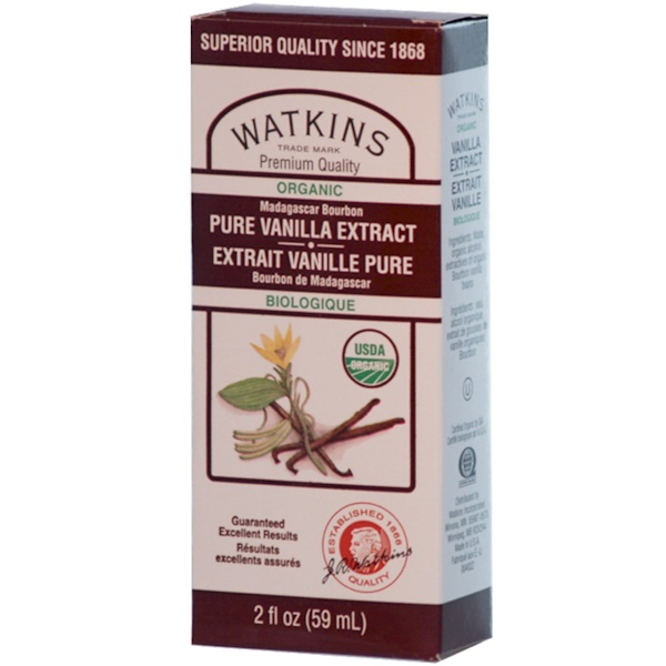 J R Watkins, Organic Madagascar Bourbon Pure Vanilla Extract, 2 fl oz (59 ml) (Discontinued Item)