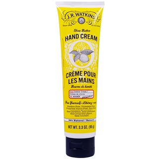 J R Watkins, Shea Butter Hand Cream, Lemon Cream, 3.3 oz (95 g)