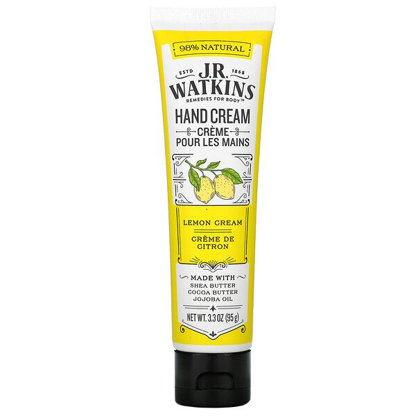 J R Watkins, Hand Cream, Lemon Cream, 3.3 oz (95 g)
