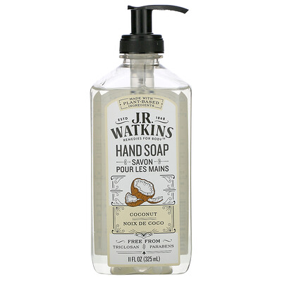 Купить J R Watkins Hand Soap, Coconut, 11 fl oz (325 ml)