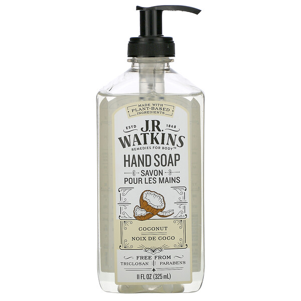 Hand Soap, Coconut, 11 fl oz (325 ml)