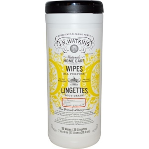 Ж Р Ваткинс, Wipes, All Purpose, Lemon, 35 Wipes, 7 in x 8 in (17.8 cm x 20.3 cm) Each отзывы покупателей