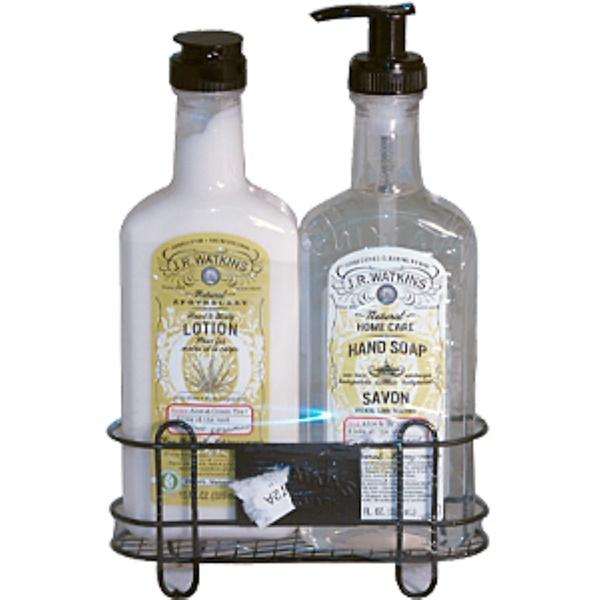 J R Watkins, Aloe & Green Tea Sink Set, 3 Piece Set, 11 fl oz (325 ml) Each Bottle (Discontinued Item)