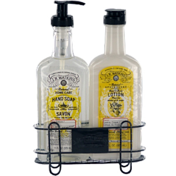 J R Watkins, Lemon Sink Set, 3 Piece Set, 11 fl oz (325 ml) Each Bottle (Discontinued Item)