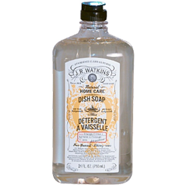 J R Watkins, Natural Home Care Dish Soap, Orange Citrus Scent, 24 fl oz (710 ml) (Discontinued Item)