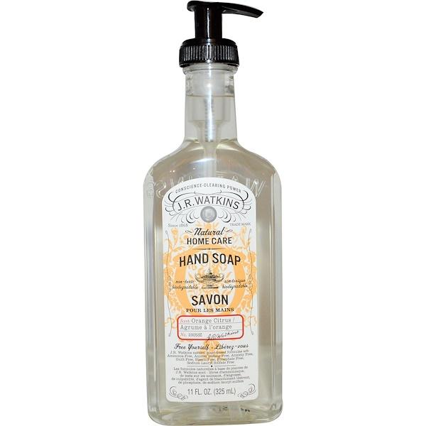 J R Watkins, Натуральный домашний уход, мыло для рук, апельсин, 11 жидких унций (325 мл) (Discontinued Item)