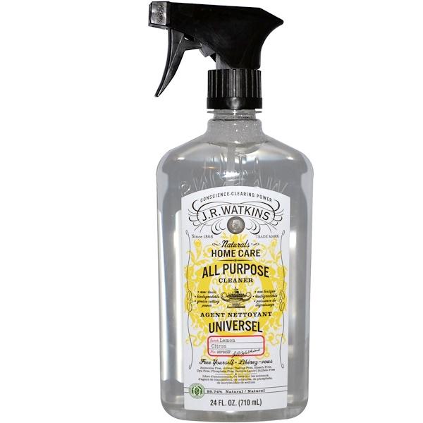 J R Watkins, ナチュラルホームケア, 多目的洗剤, レモン, 24 fl oz (710 ml) (Discontinued Item)