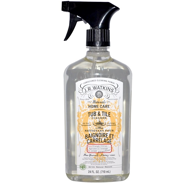 J R Watkins, Natural Home Care, Tub & Tile Cleaner, Orange Citrus, 24 fl oz (710 ml) (Discontinued Item)