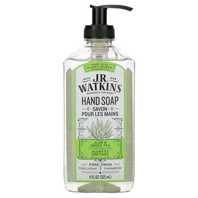 Купить J R Watkins Hand Soap, Aloe & Green Tea, 11 fl oz (325 ml)