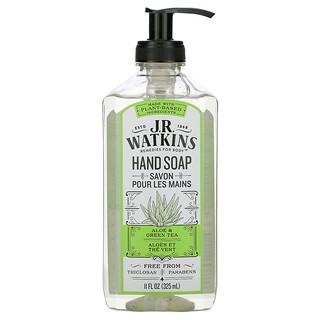 J R Watkins, Hand Soap, Aloe & Green Tea, 11 fl oz (325 ml)