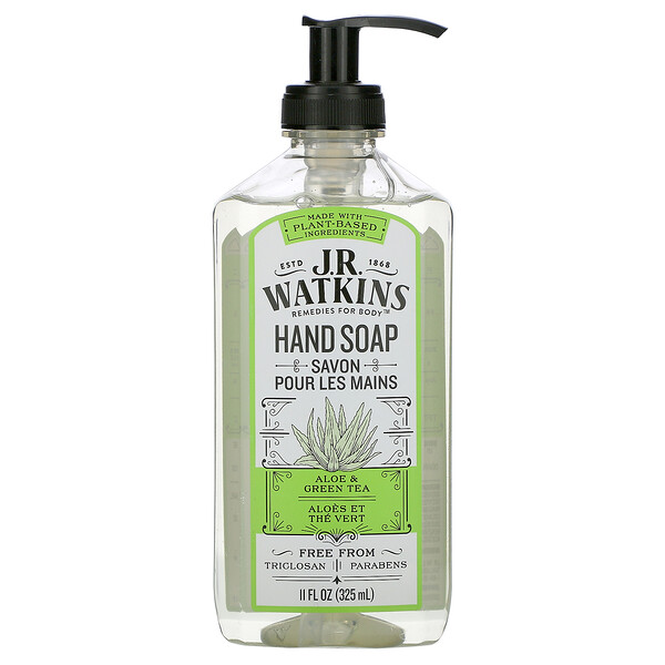 Hand Soap, Aloe & Green Tea, 11 fl oz (325 ml)