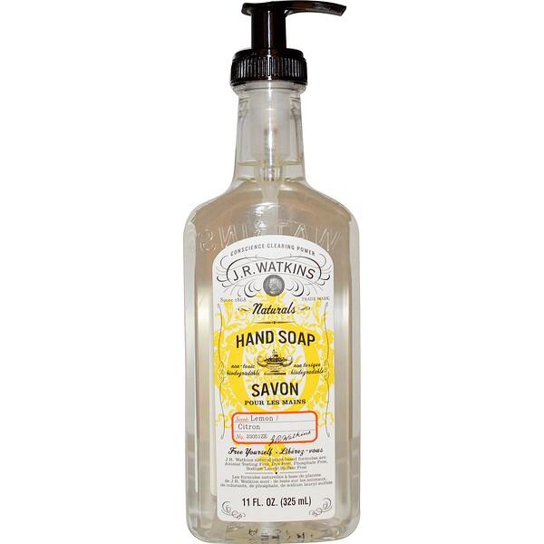 J R Watkins, Natural Hand Soap, Lemon, 11 fl oz (325 ml) (Discontinued Item)