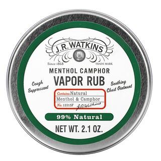 J R Watkins, Menthol Camphor Vapor Rub, 2.1 oz