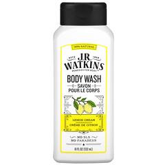 J R Watkins, 沐浴露,檸檬奶油味,18 液量盎司(532 毫升)