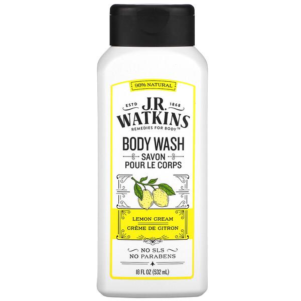 J R Watkins, Body Wash, Lemon Cream, 18 fl oz ( 532 ml)
