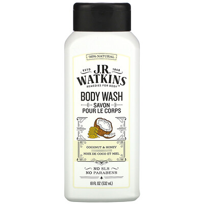 Купить J R Watkins Body Wash, Coconut & Honey, 18 fl oz (532 ml)