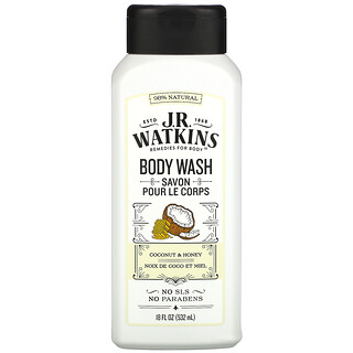 J R Watkins, Body Wash, Coconut & Honey, 18 fl oz (532 ml)