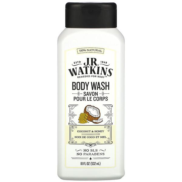 Body Wash, Coconut & Honey, 18 fl oz (532 ml)
