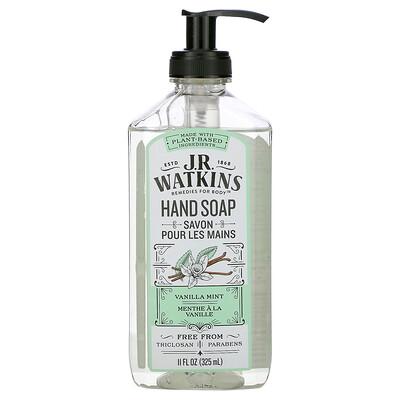 J R Watkins Hand Soap, Vanilla Mint, 11 fl oz (325 ml)