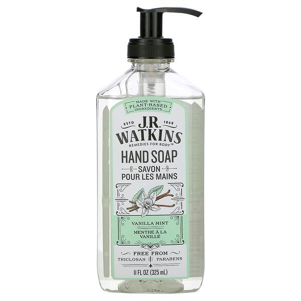 J R Watkins, Hand Soap, Vanilla Mint, 11 fl oz (325 ml)