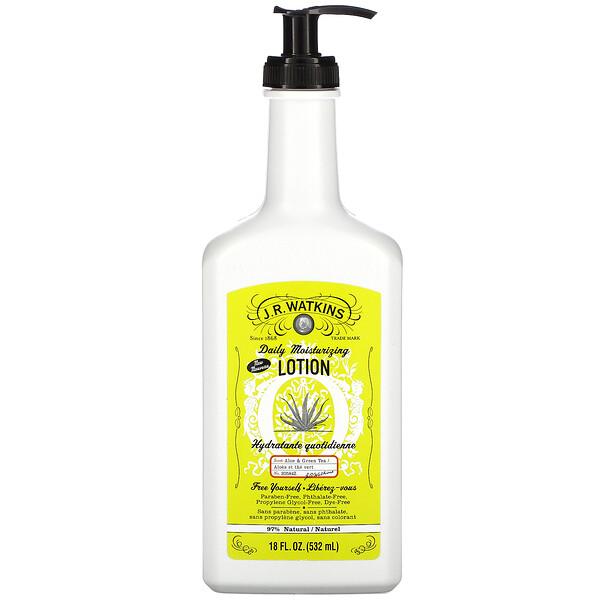 Daily Moisturizing Lotion, Aloe & Green Tea, 18 fl oz (532 ml)