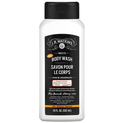 J R Watkins Men's Body Wash, Bergamot & Oak, 18 fl oz (532 ml)