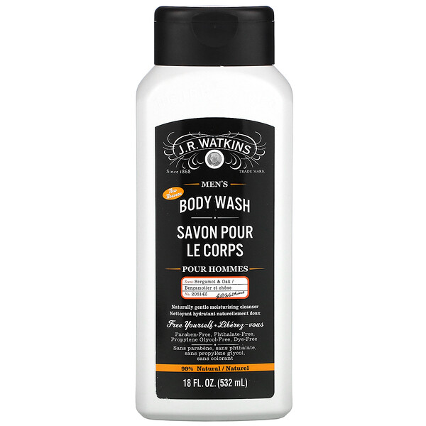 Men's Body Wash, Bergamot & Oak, 18 fl oz (532 ml)