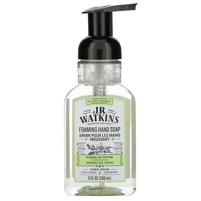 J R Watkins Foaming Hand Soap, Neroli & Thyme, 9 fl oz (266 ml)