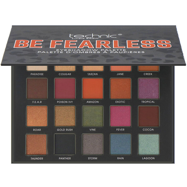 W7, Technic, Limited Edition, Be Fearless, Eye Shadow Palette, 0.56 oz (16 g)