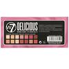 W7, Delicious, палитра теней для глаз, натуральный и ягодные оттенки, 11,2г (0,39унции)