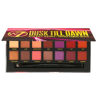 W7 Dusk Till Dawn, Ultra Violet Neutrals, палитра прессованных пигментированных теней, 9,6г (0,34унции)