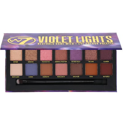 Купить W7 Violet Lights, Neutrals Gone Wild, палетка теней, 11, 2г