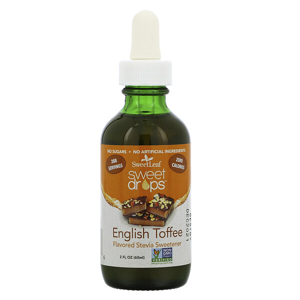 SweetLeaf, Sweet Drops Stevia Sweetener, English Toffee, 2 fl oz (60 ml)