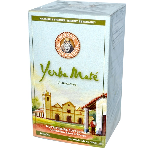 Wisdom Natural, Wisdom of the Ancients, Yerba Mate, Loose Tea, Unsweetened, 7.06 oz (200 g) (Discontinued Item)