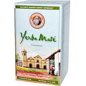 Виздом Натуралс, Wisdom of the Ancients, Yerba Mate, Unsweetened, 25 Herbal Tea Bags, 1.77 oz (50 g) отзывы