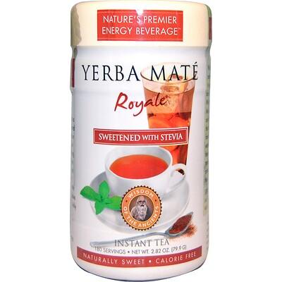 Yerba Mate Royale, подслащенный стевией, чай мгновенного приготовления, 2.82 унции (79,9 г) чай мате yerba mate playadito листовой 1000 г