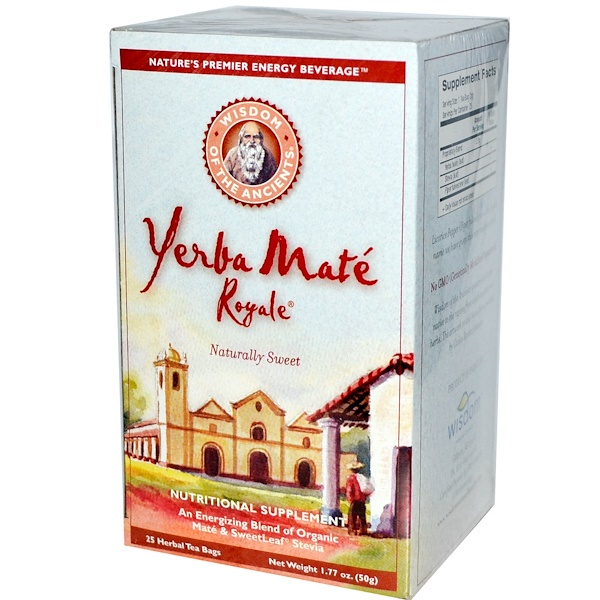 Wisdom Natural, Wisdom of the Ancients, Yerba Mate Royale, 25 Herbal Tea Bags, 1.77 oz (50 g) (Discontinued Item)