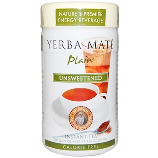 Wisdom Natural, Wisdom of the Ancients, Yerba Mate Sola, Sin Endulzar, Té Instantaneo, 2.82 oz (79.9 g)
