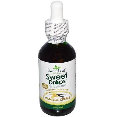 Купить SweetLeaf Liquid Stevia, подсластитель SweetDrops со вкусом ванильного крема, 60 мл (2 жидких унции)