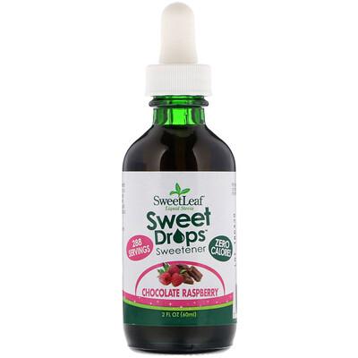 Купить SweetLeaf, Liquid Stevia, Sweet Drops Sweetener, Chocolate Raspberry, 2 fl oz (60 ml)