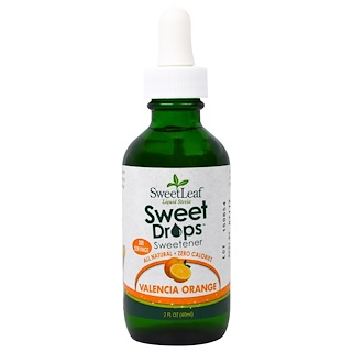 Wisdom Natural, SweetLeaf Liquid Stevia, Valencia Orange, 2 fl oz (60 ml)