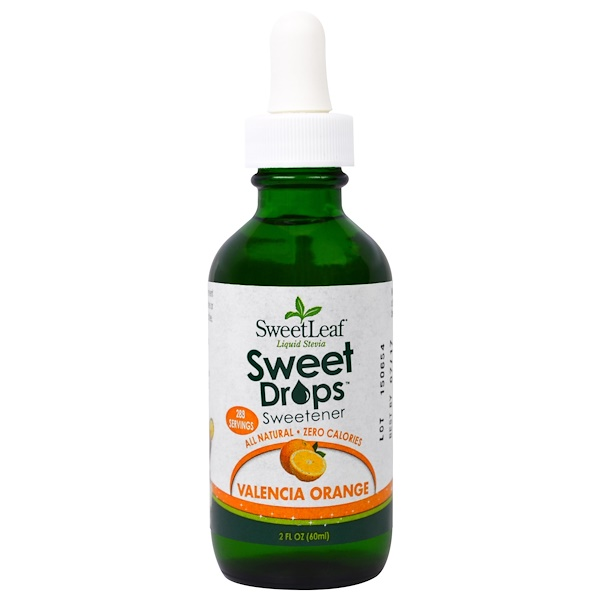 Wisdom Natural, SweetLeaf Liquid Stevia, Valencia Orange, 2 fl oz (60 ml)