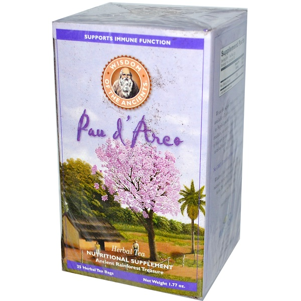Wisdom Natural, Wisdom of the Ancients, Pau d'Arco, Herbal Tea, 25 Herbal Tea Bags, (2 g) Each (Discontinued Item)