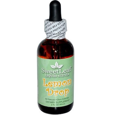 Купить SweetLeaf, Жидкая стевия, Лимонные капли, 2 жидких унции (60 мл)
