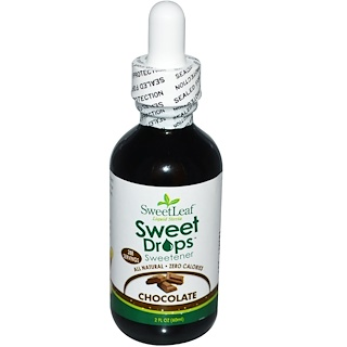 Wisdom Natural, SweetLeaf Liquid Stevia, Sweet Drops Sweetener, Chocolate, 2 fl oz (60 ml)