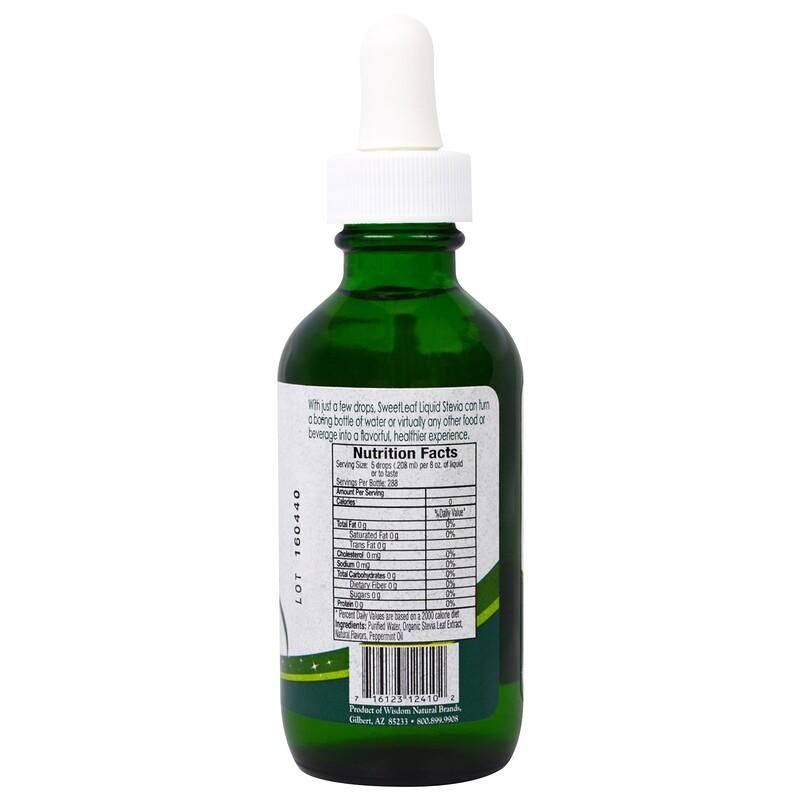 Wisdom Natural, SweetLeaf Liquid Stevia, Sweet Drops Sweetener, Peppermint, 2 fl oz (60 ml) - photo 1