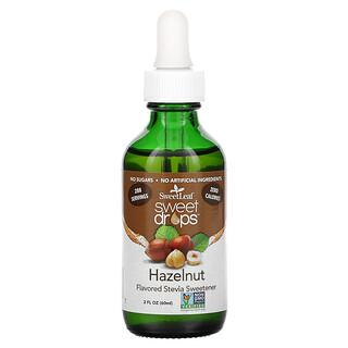 Wisdom Natural, SweetLeaf, Sweet Drops Stevia Sweetener, Hazelnut, 2 fl oz (60 ml)