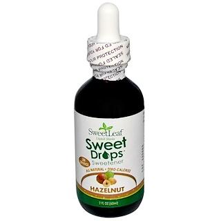 Wisdom Natural, SweetLeaf, Liquid Stevia, Sweet Drops, Hazelnut, 2 fl oz (60 ml)