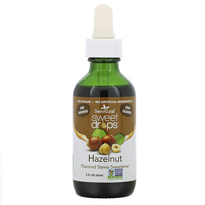 Виздом Натуралс, SweetLeaf, Sweet Drops Stevia Sweetener, Hazelnut, 2 fl oz (60 ml) отзывы
