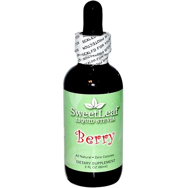 Wisdom Natural, SweetLeaf, Liquid Stevia, Berry, 2 fl oz (60 ml)